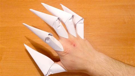 Claw Origami - how to make origami claws