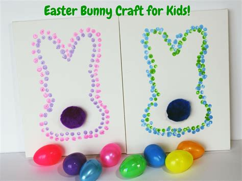 easter crafts for easter bunny dot for teachable