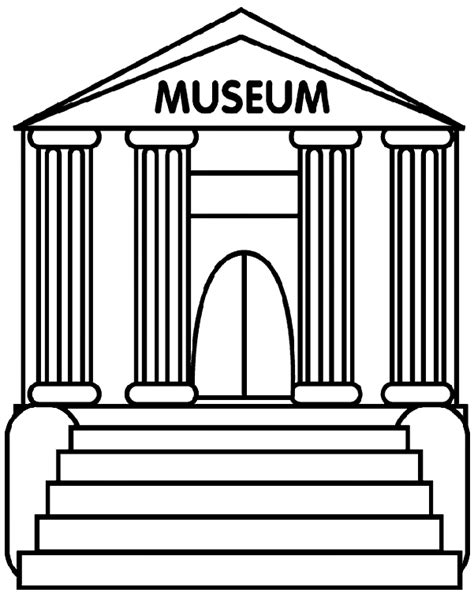 The Museum Coloring Pages museum coloring page crayola