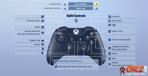 fortnite builder controls fortnite battle royale xbox controller layout orcz