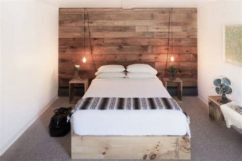 wood wall bedroom 11 wood paneled walls as headboards by