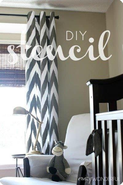 diy stenciled curtains 14 gorgeous diy curtain ideas lovely etc