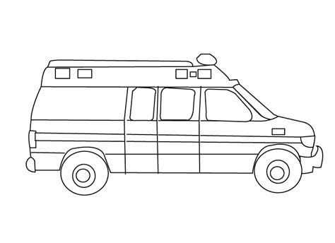 coloring pages emergency car