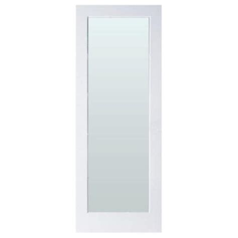 Privacy Glass Doors Interior by Masonite 32 In X 80 In Sandblast Lite Solid Primed Mdf Interior Door Slab With