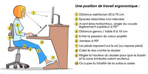 position assise bureau ergonomie au travail 233 viter les douleurs spa bolton