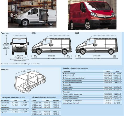 Vauxhall Vivaro Height Recommended Innolift Model For Opel Vivaro