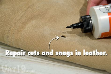 how to repair a hole in leather couch tear mender the instant non toxic fabric adhesive