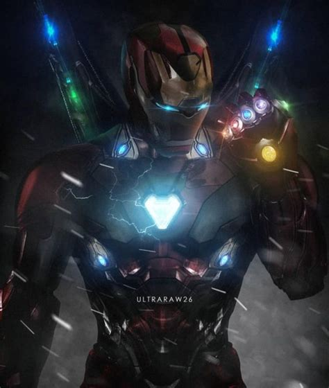 tony stark iron man marvel fan art avengers endgame