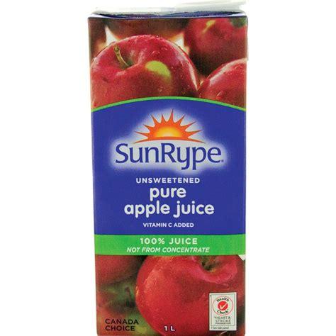 apple juice sunrype pure apple juice 1l tetra box 12pk