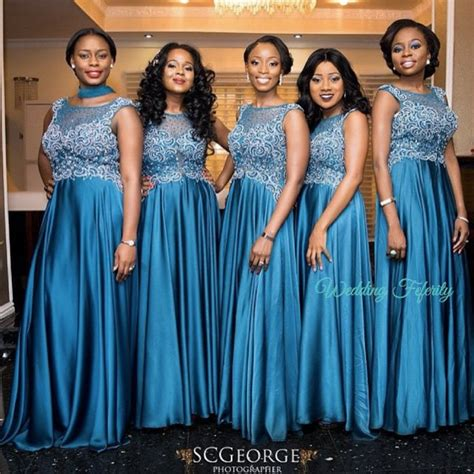 peach navy blue nigerian pin nigerian bridesmaids colors gorgeous on pinterest
