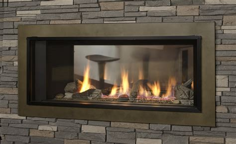 valor l1 2 sided gas fireplace sutter home hearth