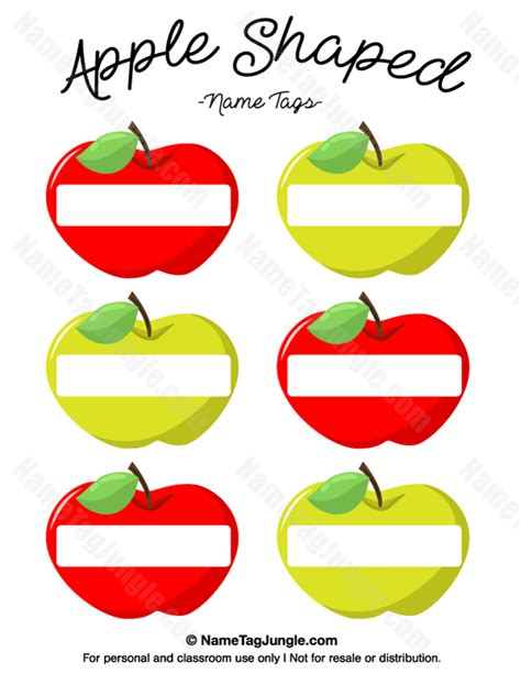 apples to apples card template free printable apple shaped name tags the template can