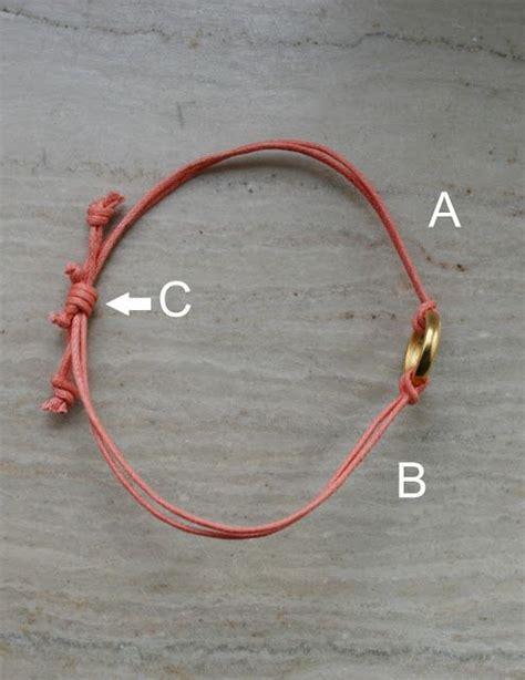Three String Knot - a s nest sliding knot bracelets things to make