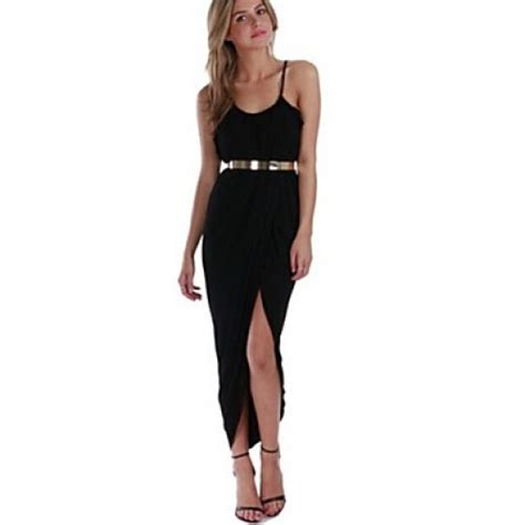 s pleated waist asym hem dress with belt white