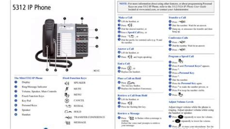 reset voicemail password mitel 5312 mitel 5312 ip phone quick reference guide dundalk