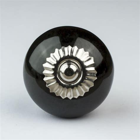 Black Cupboard Door Knobs by Black White Silver Grey Ceramic Door Knobs Handles