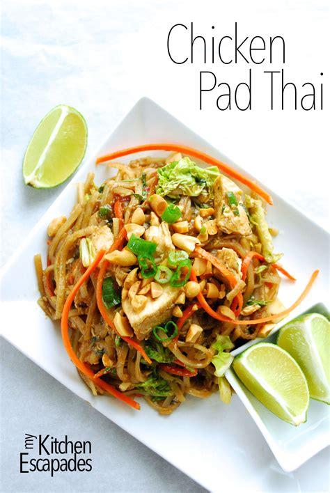 chicken pad thai my kitchen escapades
