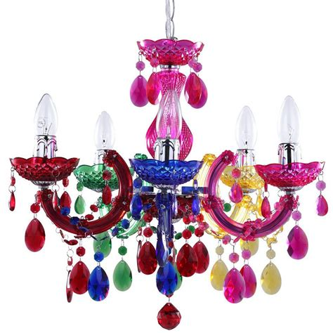 Multicolor Chandelier Therese 5 Light Dual Mount Chandelier Multicoloured