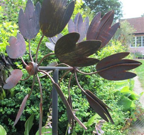 the hton metal garden wind sculpture burnished gold