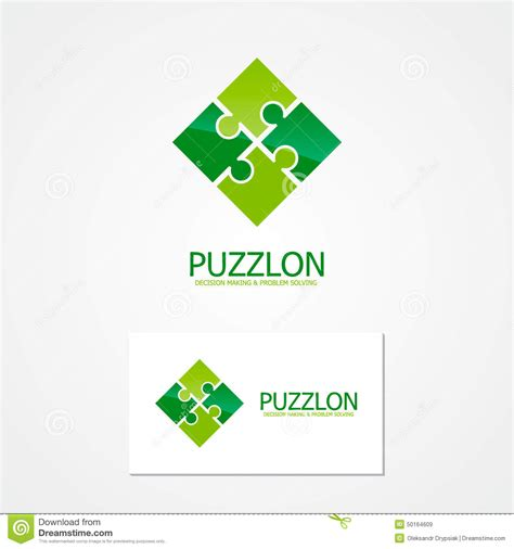 puzzle design elements vector vector puzzle design logo stock vector image of geometric