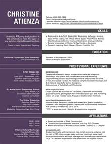 Architecture Resume Samples Architect Resume Resume Cv Template Examples