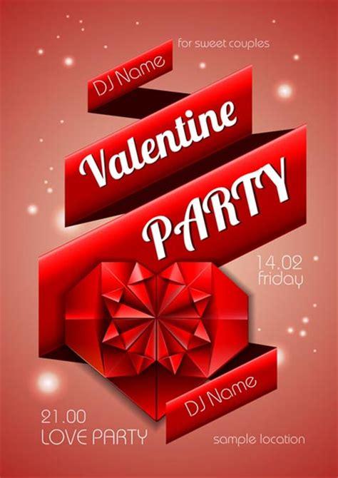 valentines poster disco poster vectors