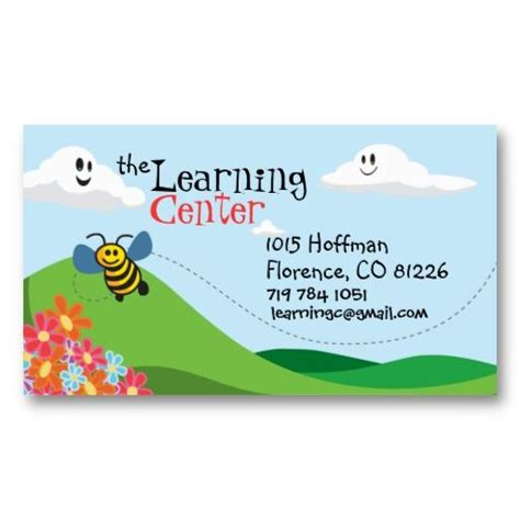 Children S Business Cards Templates by 17 Best Images About Child Care Business Cards On