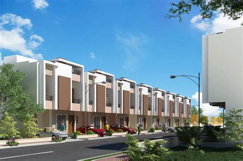 row housing architecture and civil engineering row houses in karad by