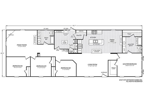 fleetwood mobile home plans westfield classic 28764f fleetwood homes