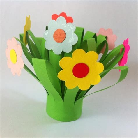 crafts flower diy s day paper flower bouquet kinderland