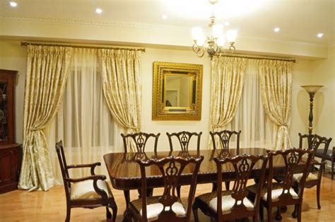 Best dining room window treatments design home ideas collection dining room window