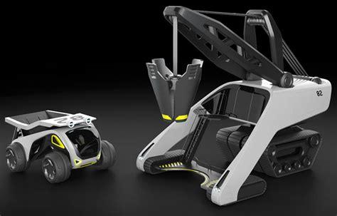 design concepts expert contractors futuristic space truck construction set by zukun plan tuvie