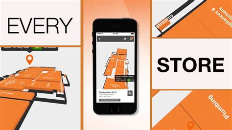 the home depot mobile app store maps