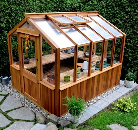 she shed kits freestanding wood frame greenhouse by cedarbuilt makes a