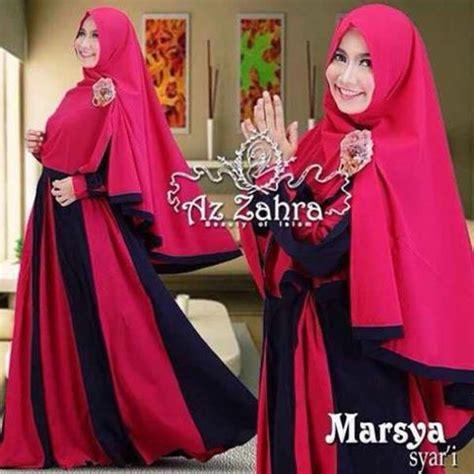 baju gamis syar i modern terbaru 2016 marsya by azzahra
