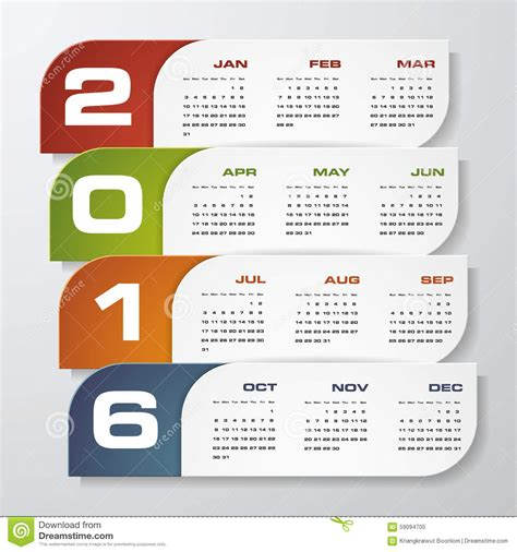design calendar simple simple design calendar 2016 year vector design template