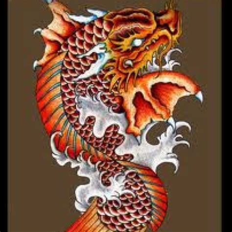 tattoo koi fish turning into dragon collection of 25 dragon with coil fish head tattoo design