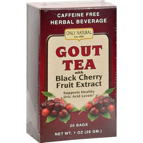 Rooney Cv Daily Detox Reviews by Only Gout Tea Black Cherry Fruit Extract 20