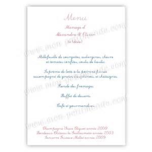 menu mariage simple birds menu de mariage birds mon