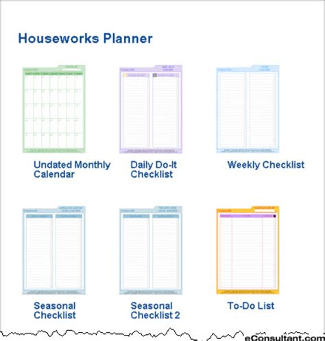 household planner free printables houseworks planner organized home