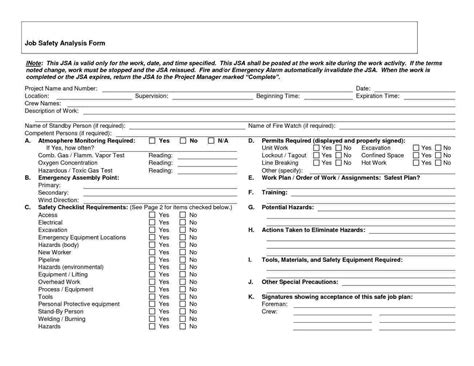 Workplace Hazard Assessment Template Write Happy Ending Workplace Hazard Assessment Template