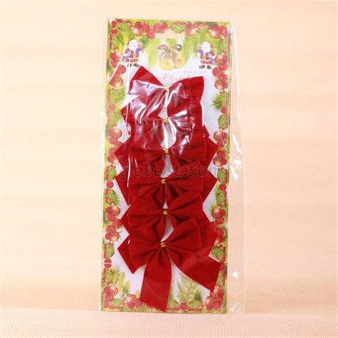 red velvet tie christmas tree ribbon satin bows hanging