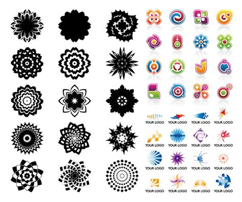 pattern as logo graphics rotate shine pattern logo templates vectors