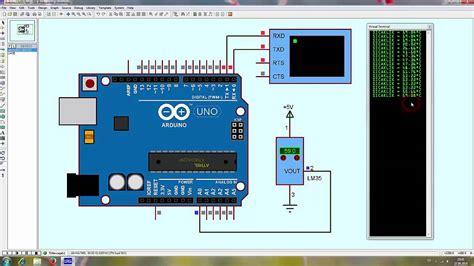 code arduino lm35 arduino temperature sensor lm35 exle test code youtube