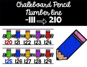theme line original number line chalk pencil theme by katie leseman tpt