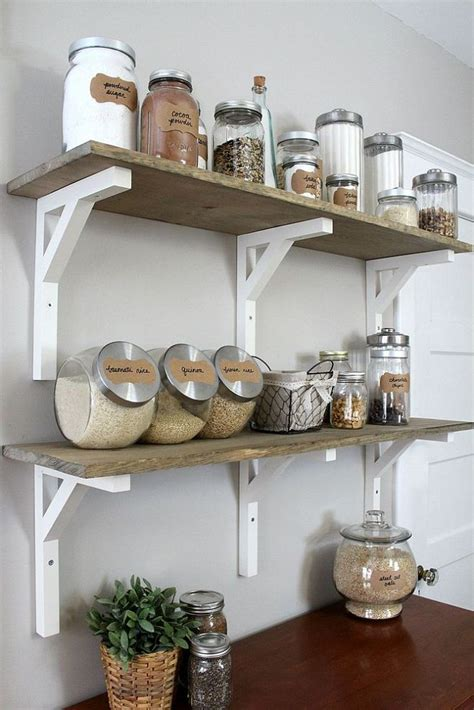 diy open shelving kitchen add storage to your kitchen with trendy diy open shelving home decoz
