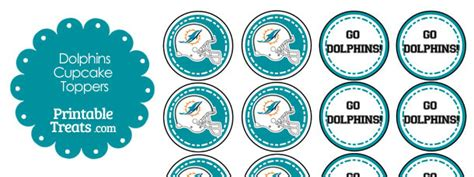 Miami Dolphins Sweepstakes - miami dolphins cupcake toppers printable treats com