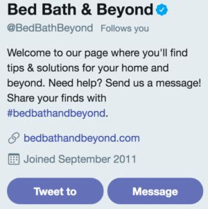 bed bath and beyond customer service how to build trust with marketing