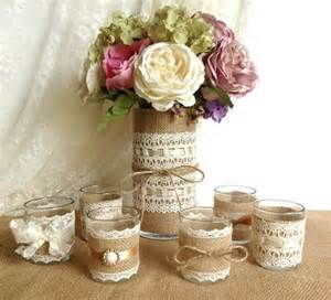 Candles and vase country chic wedding decorations 2085951 weddbook