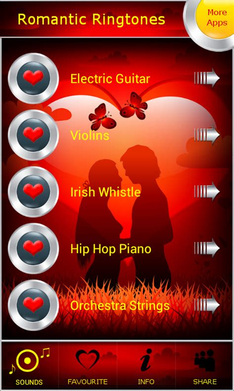 romantic themes ringtone latest romantic ringtones free android app android freeware